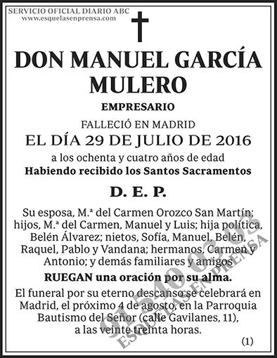 Manuel García Mulero